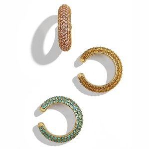 Rounded earring cuffs